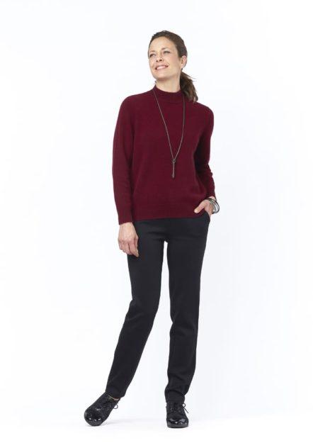 pantalon noir aballo isis collection