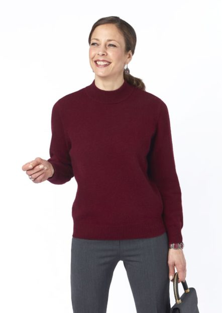 pull bruce bordeaux cachemire isis collection