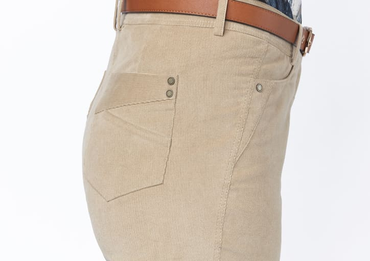 pantalon effet velour