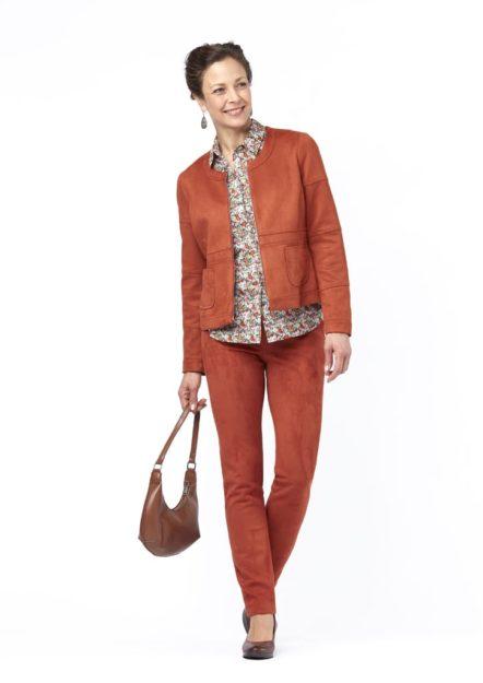 pantalon femme suédine fundi isis collection