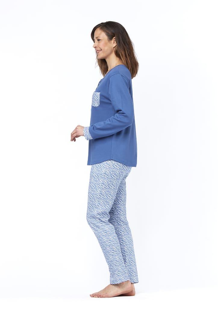 pyjama femme bleu