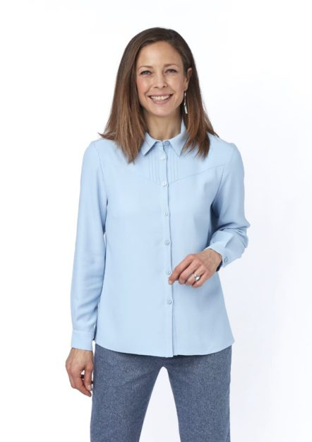 chemisier bleu ciel railey isis collection